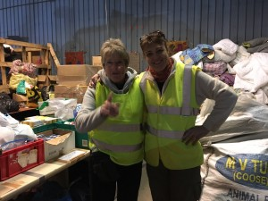 A mother-daughter dynamic duo who drove a van full of donations to Calais from their home in Scotland.
